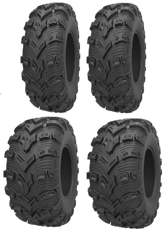 4 Full set of Kenda Bear Claw 6ply 25x8-12 and 25x10-12 ATV Tires