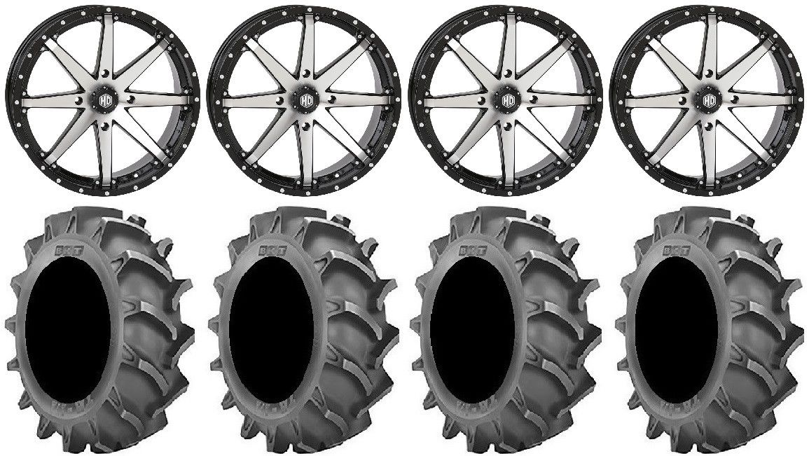 4//156 Machined//Gloss Black 20HD1003 4+3 STI HD10 20x7 ATV//UTV Wheel