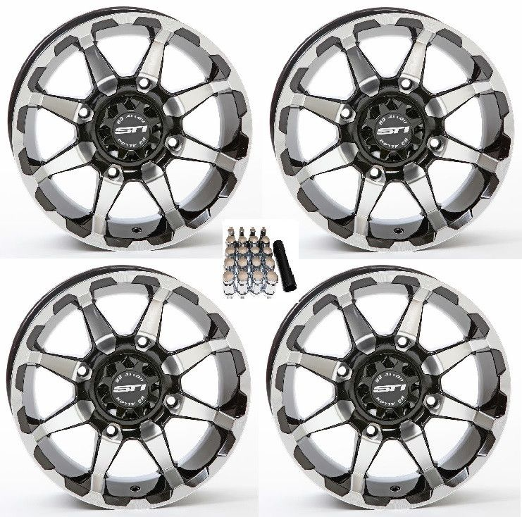 ITP Tornado UTV Wheels//Rims Milled//Black 15 Polaris RZR 1000 XP Ranger XP 900//1000