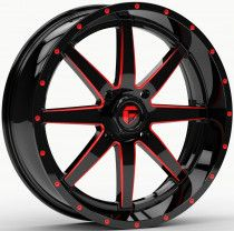 Fuel Maverick 18x7 ATV/UTV Wheel - Red/Matte Black (4/137) 4+3 [D6501870A644]