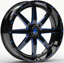 Fuel Maverick 18x7 ATV/UTV Wheel - Blue/Matte Black (4/156) 4+3 [D6511870A544]