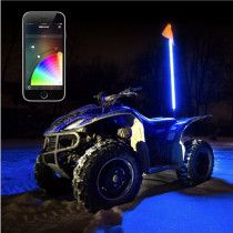 XK Glow 1x XKchrome App Control RGB LED Whip Light UTV Kit