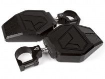 """Assault Industries Aviator Mirrors (Pair) w/ 1.875"""" Clamps - Raw"""