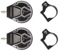 """Assault Industries Sidewinder Mirrors (Pair) w/ 1.5"""" Clamps - Raw"""