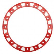 "STI 14"" HD9/A1 Beadlock Ring - Red/Milled [14HB9R16]"